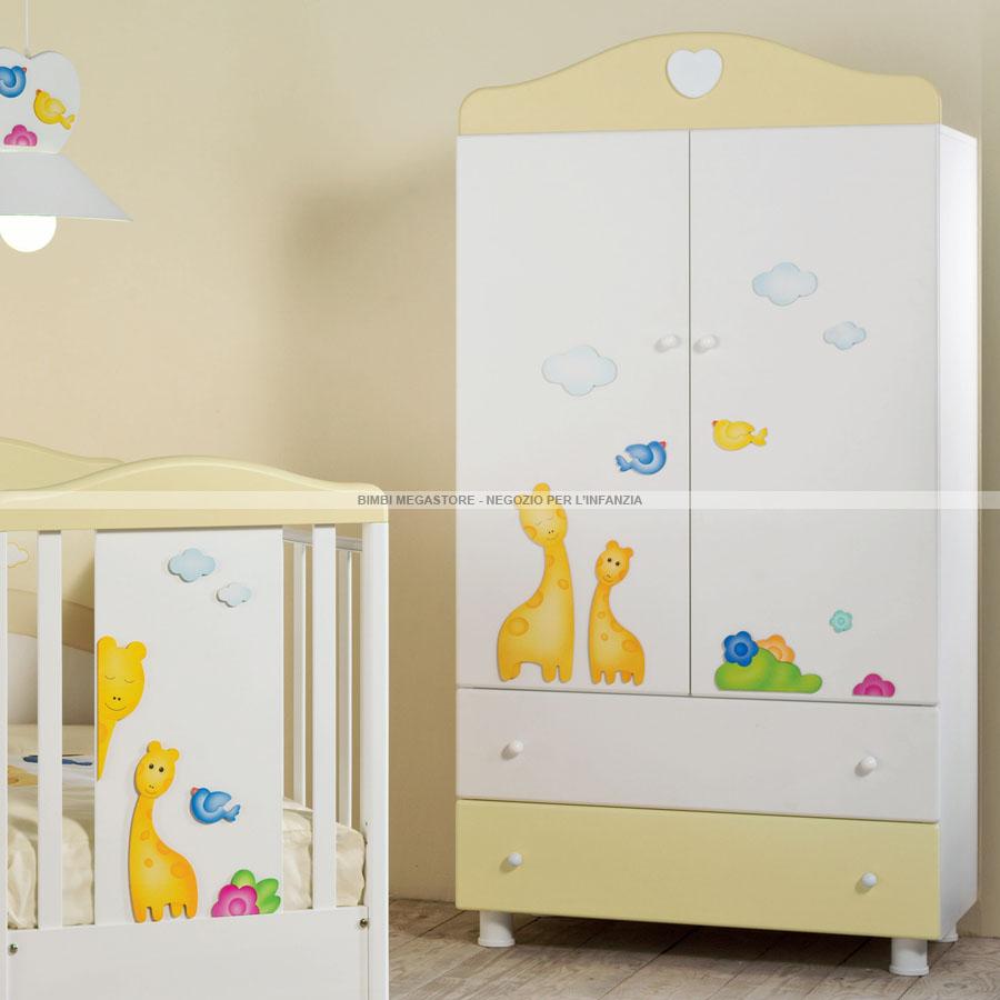 Coccoleria giraffina armadio bimbi megastore - Armadio ikea bimbi ...