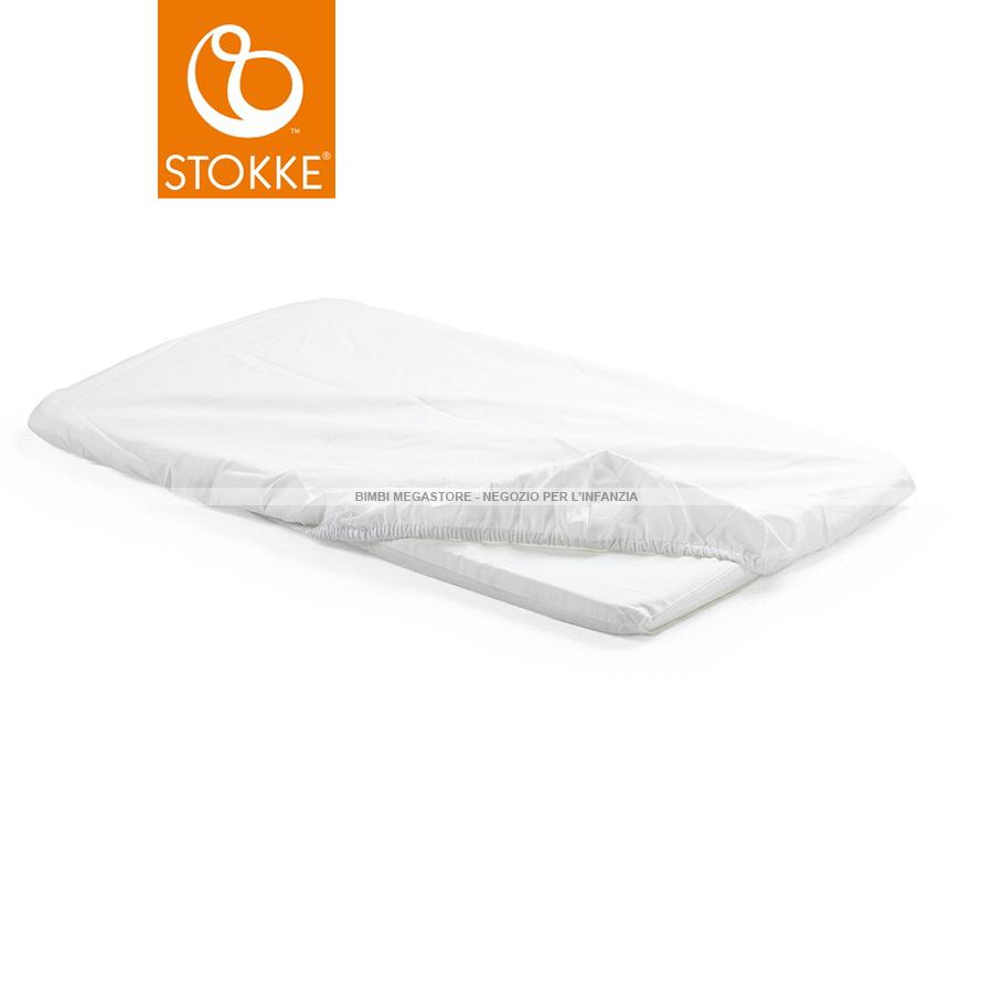 Stokke stokke home lenzuolo sotto culla 2 pz bimbi for Misure materasso lettino