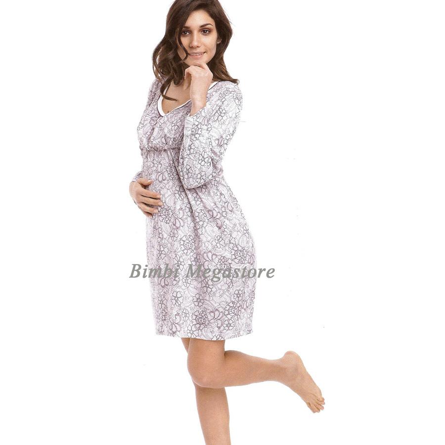 nuovo stile c9082 ff297 Camicia Da Notte Effetto Pizzo L Panna Viola