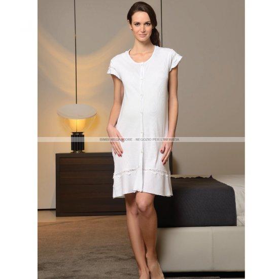 vendita calda online 1345c 7081c Camicia Da Notte Con Ricami L Bianco