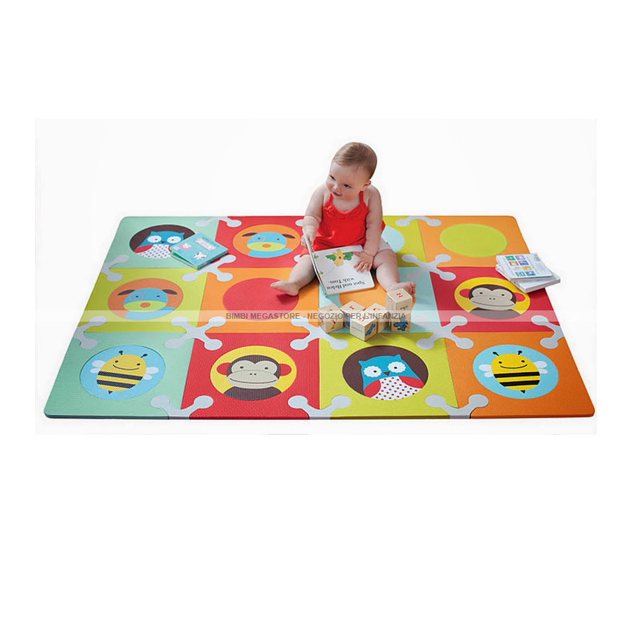 Skip hop playspot tappeto gioco zoo 142x106 cm bimbi - Tappeto puzzle per bambini ikea ...