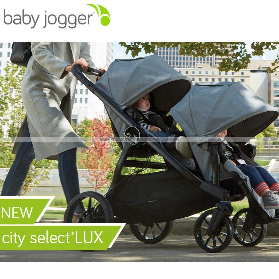Baby Jogger City Select Lux Trio Gemellare Bimbi Megastore
