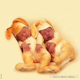 Anne Geddes - Set 2 Bavaglie Bunnies